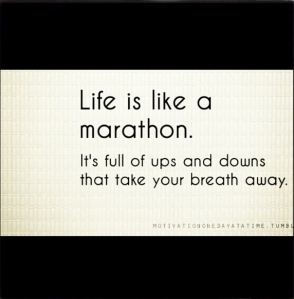 life is like a marathon