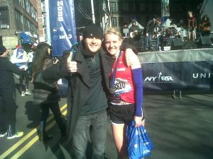 Post-race with the ever-incredible Kyle who graciously lugged my gear from the start to the finish. Thank you!