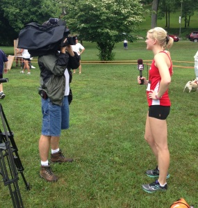 Switched roles and was the interviewee at a 5K I ran last weekend!