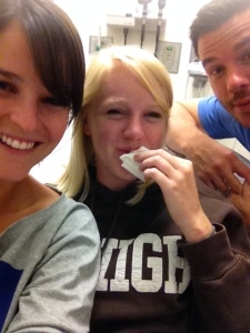 My ER dream team - made me smile despite the gash in my lip!